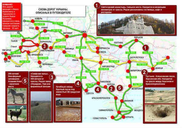 Схема дорог Украины